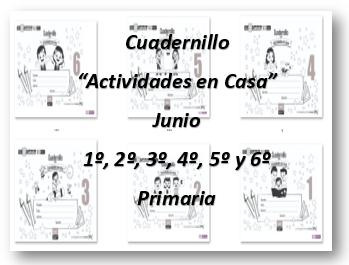 Cuadernillo para Actividades en Casa 1º,2º,3º,4º,5º y 6º Grado Ciclo Escolar 2019-2020.