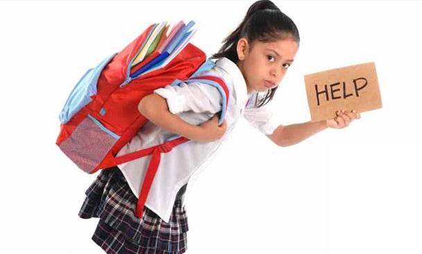 Postur Kyphotic karena beban Tas Sekolah