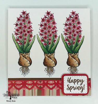 Our Daily Bread Designs Stamp Set: Easter Greetings, Custom Dies: Rounded Rectangles, Double Stitched Rounded Rectangles, Deco Border, Paper Collection: Beautiful Blooms