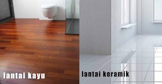 lantai kayu solid dan keramik