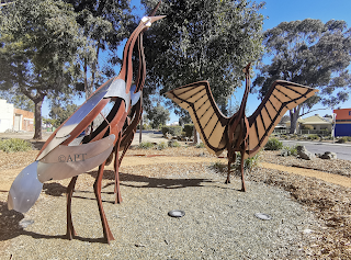 Corowa Public Art | Brolga Sculpture by High Country Forge