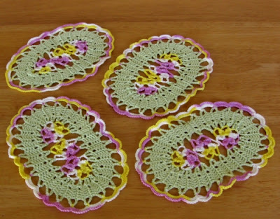 Viola Flower Oval Coasters