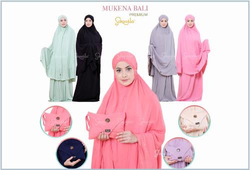 Mukena Bali Dewasa Bahan Katun Rayon Polos Premium Terbaru
