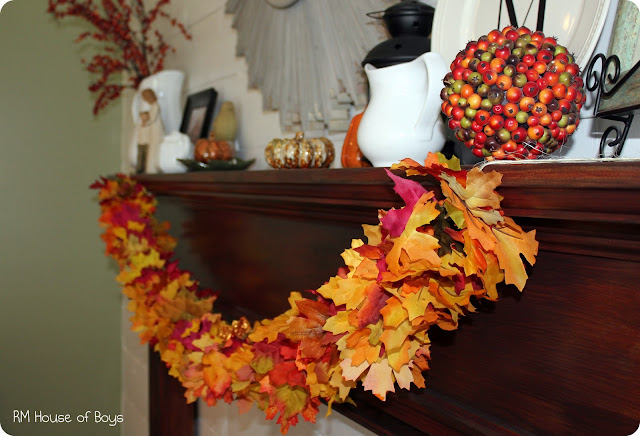 Fall Leaf Garland | Creative Thanksgiving Decorations You'll Wish You'd Thought Of First