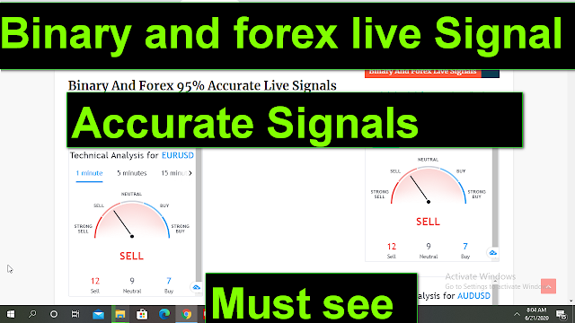 Binary And Forex 95% Accurate Signals