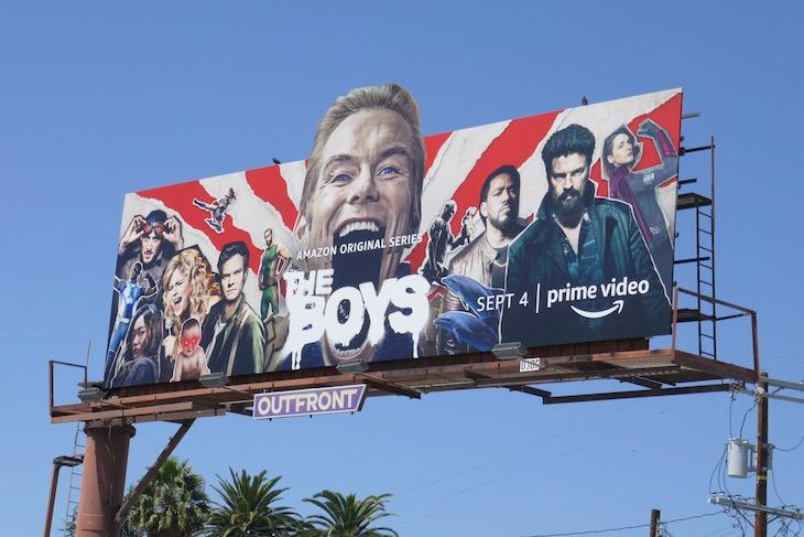 Boys season 2 Homelander extension billboard