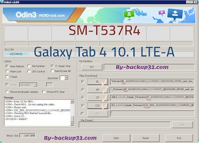 سوفت وير هاتف Galaxy Tab 4 10.1 LTE-A موديل SM-T537R4 روم الاصلاح 4 ملفات تحميل مباشر