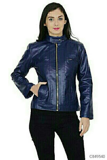 Women's Latest Leather Solid Jackets