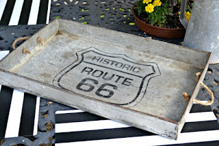 Metal Route 66 tray
