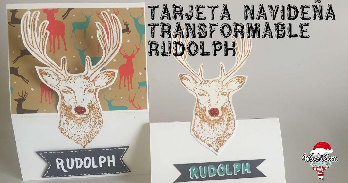 Mr WashiSan: Tarjeta atril de Navidad transformable 3D (easel card ...