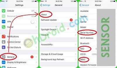 Cara melihat IMEI dan Serial Number iPhone