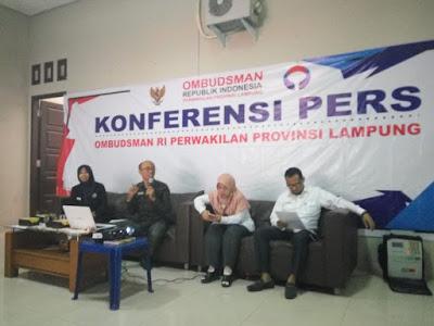 Catatan 2018, Ombudsman Lampung Soroti Laporan Penerimaan CPNS, Pertanahan, dan Administrasi Kependudukan