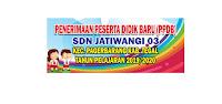 Contoh banner Penerimaan Peserta Didik Baru SD Design:  cara berguru desain banner penerimaan siswa gres SD cdr.