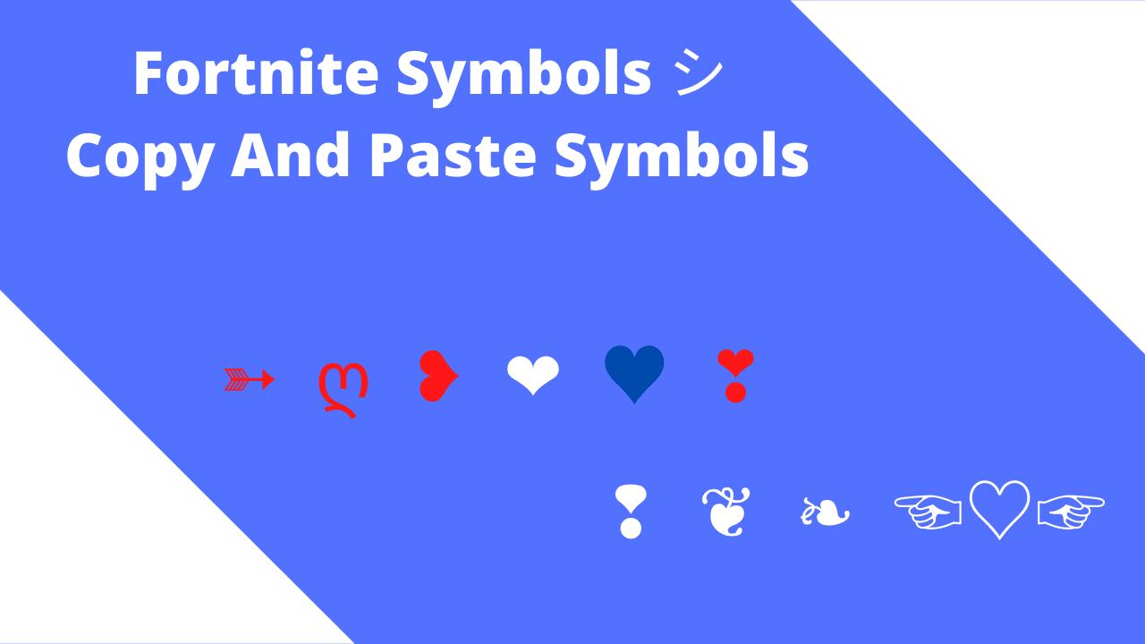 fortnite symbols