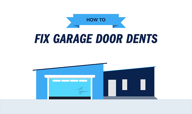 How to Fix Garage Door Dents #infographic