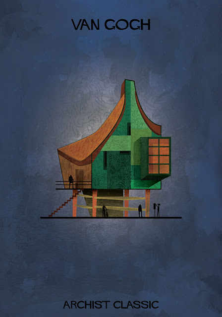 もし有名画家が建築物を作ったら?ゴッホ、ピカソ、ダリの建築?  ゴッホ