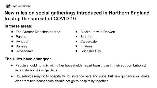 northern england new rules from 31 July for 2 weeks