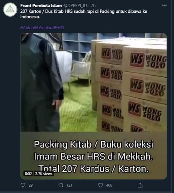 Viral Kitab Habib Rizieq Dipaket Kardus 'Wong Solo', Ini Kata FPI Solo