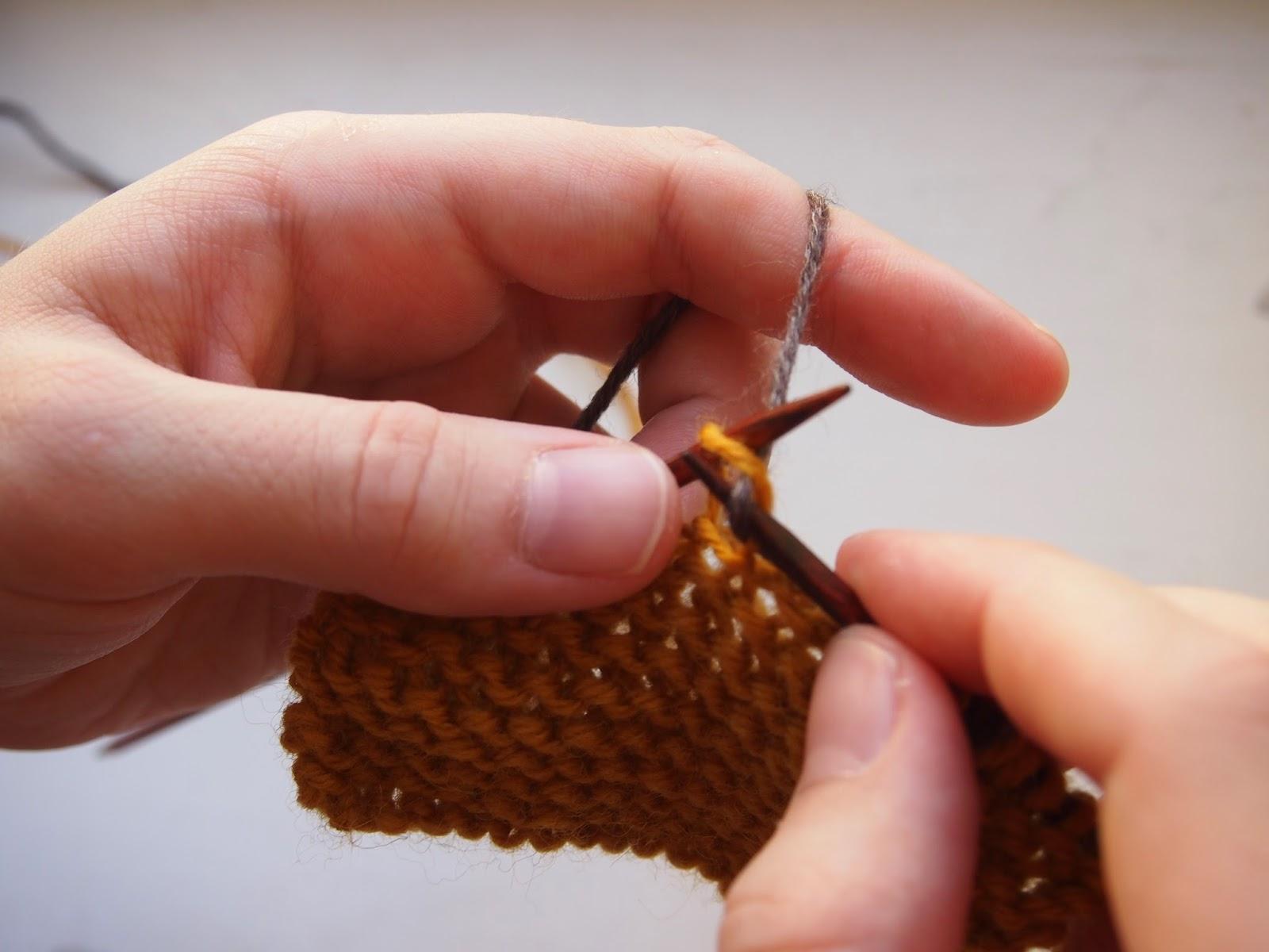 langanpään yhdistäminen neuleeseen