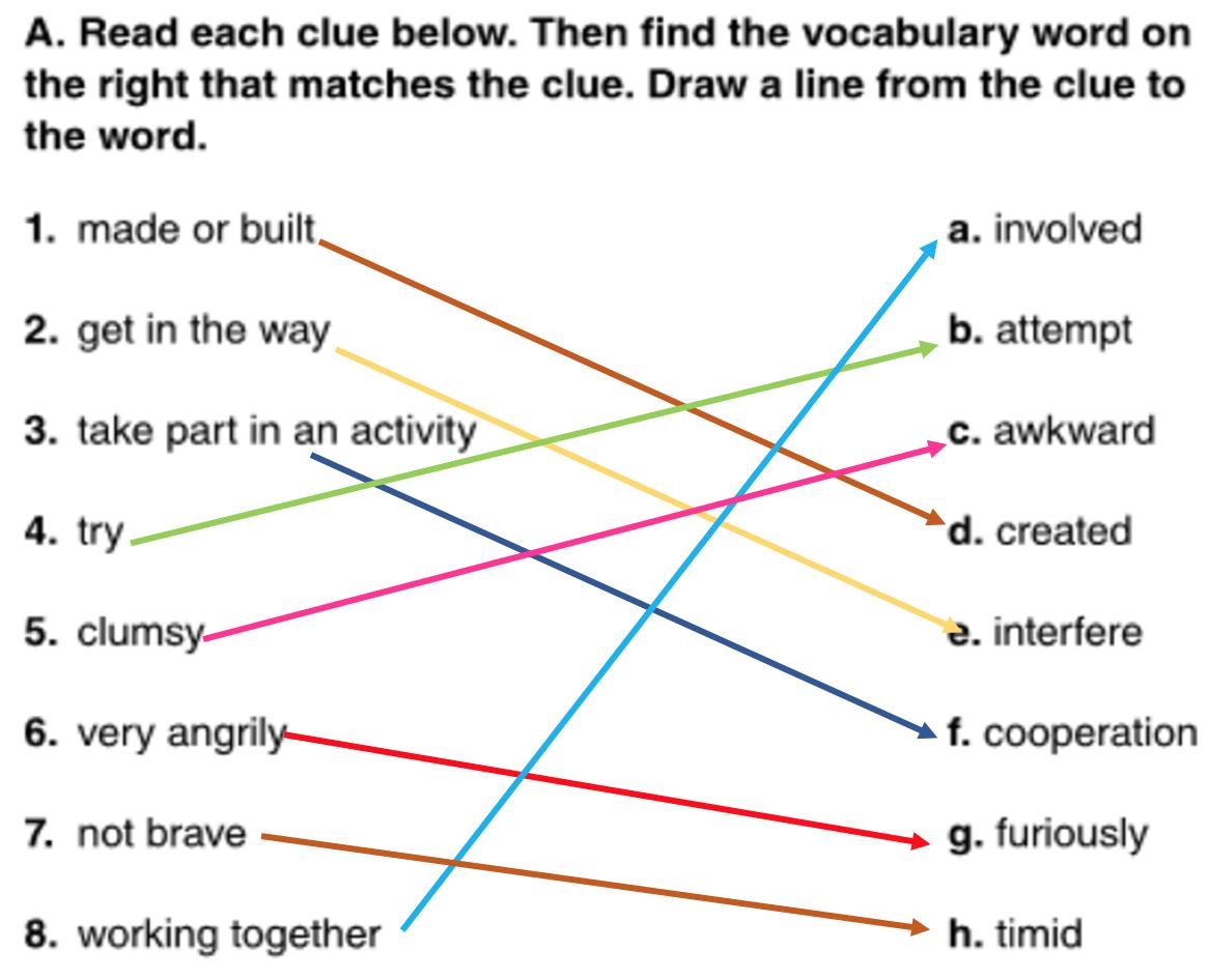 Teacher Norah Blog Vocabulary Worksheet