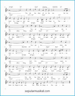 chord tangerine 2 lagu jazz standar