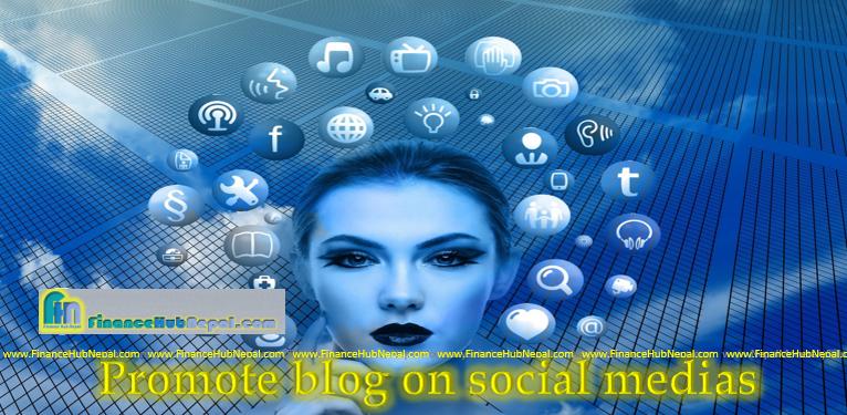 Promote blog on social media