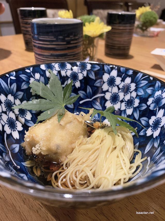 Nimono: Tofu with Somen