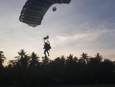 Brigif Para Raider 3 Kostrad Berhasil Mendarat di Binuang