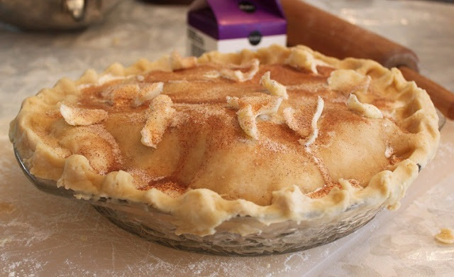 this is an homemade apple pie Upstate Utica, New York Style. My mom's recipes used all from scratch homemade ingredients. The crust is a homemade recipe along with the homemade apple pie filling. this recipe is the best