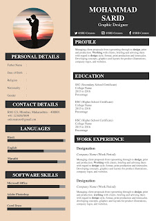 cv template for students download