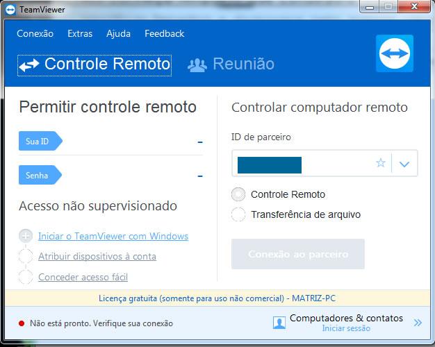 Dicas de Informática - Dúvidas e Sugestões: Teamviewer is not ready