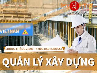 Quản lý Dự án Xây dựng tại công ty Nhật Bản - Project Manager, Hồ Chí Minh