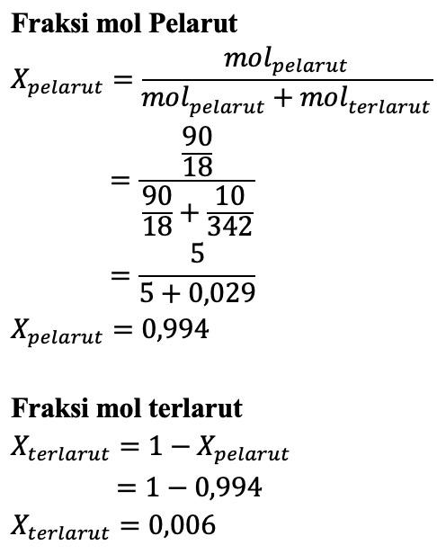 Contoh Soal Fraksi Mol Terlarut - SOALNA