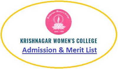 Krishnagar Women's College Merit List