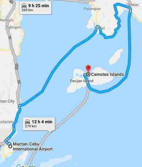 Camotes Island white beach cebu philippines 2018 map mactan cebu international airport map