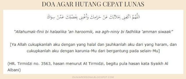 Doa Agar Hutang Cepat Lunas Yang Harus Dibaca