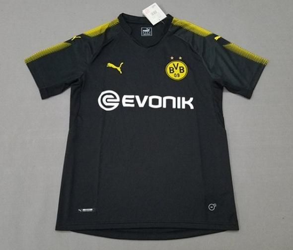 Dortmund 17-18 Away Black Soccer Jersey