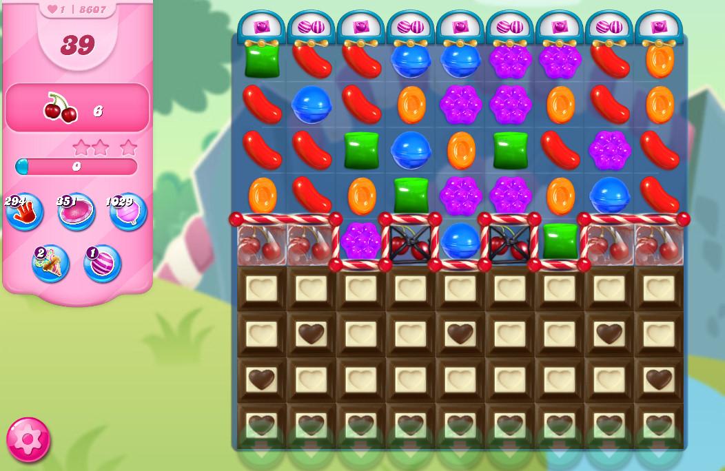Candy Crush Saga level 8607