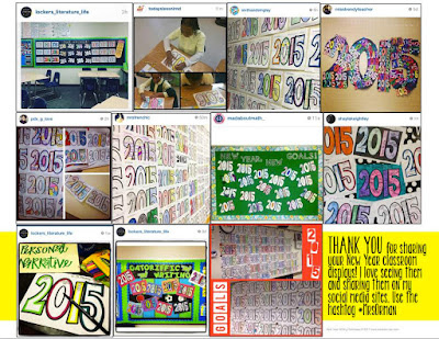 New Year Activities for Students - Classroom Displays