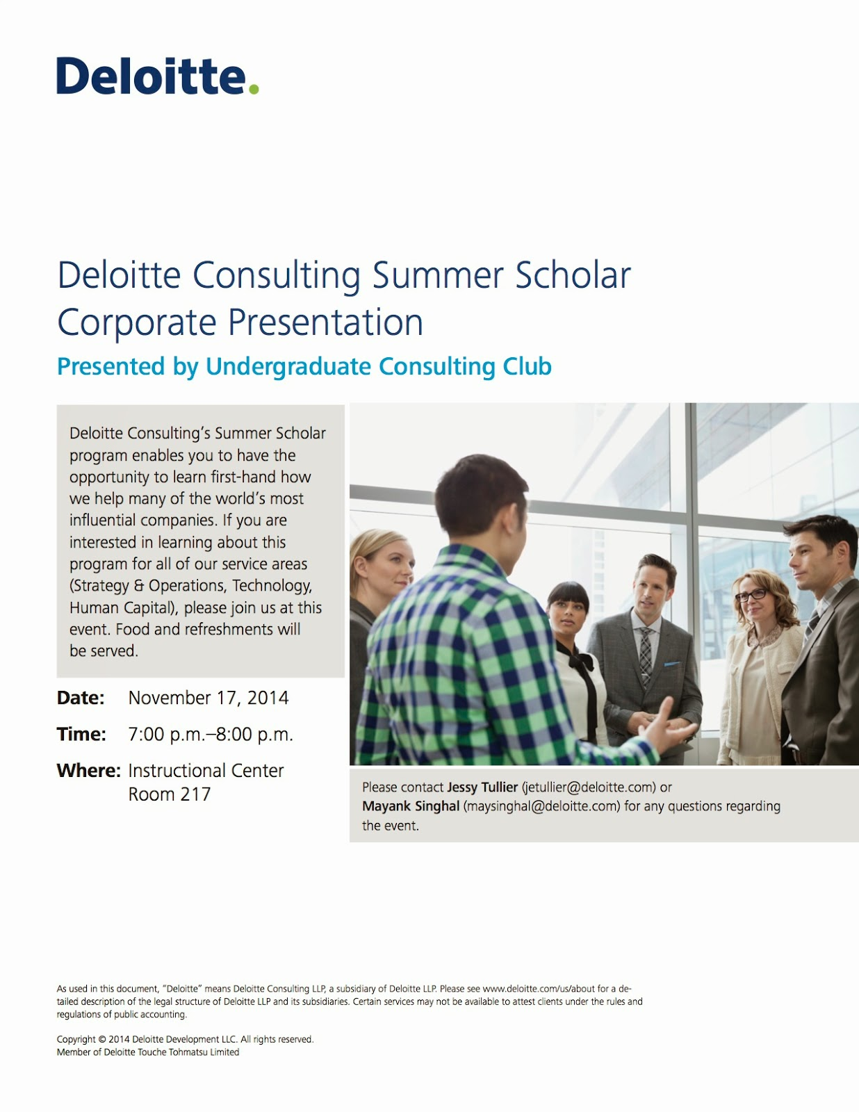 Gt Hsoc Student Blog Deloitte Consulting Summer Scholar Corporate