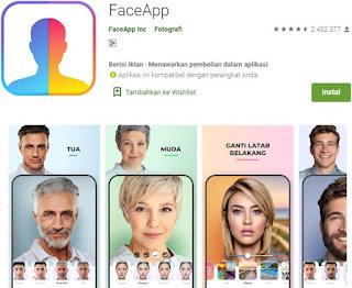 Aplikasi Wajah Tua Face Faceapp