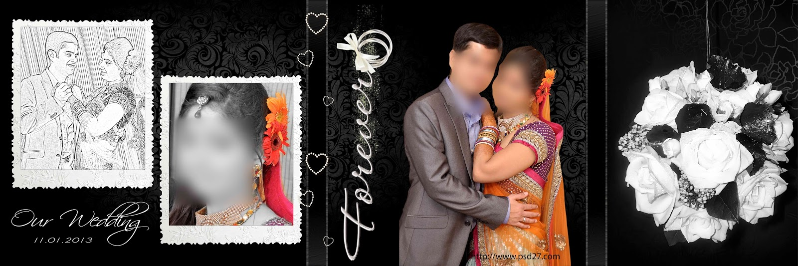 Creative Wedding Album Psd Formed Collection Download - StudioPk