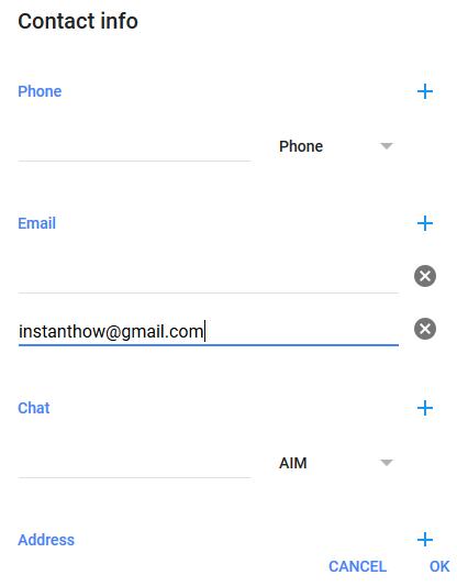 google plus contact info