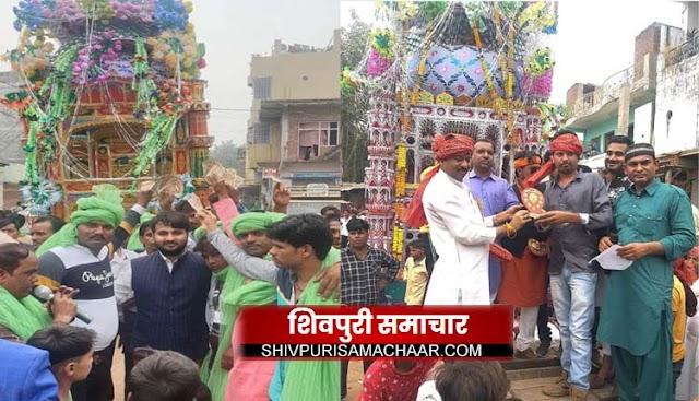 मातमी धुनों की बीच करबला में सुपुर्द-ए- खाक हुए ताजिए | Shivpuri News