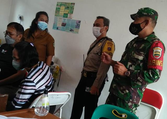 Pada Pelaksanaan Vaksinasi Terhadap Warga Binaan Personel Jajaran Kodim 0207/Simalungun Turut Dampingi