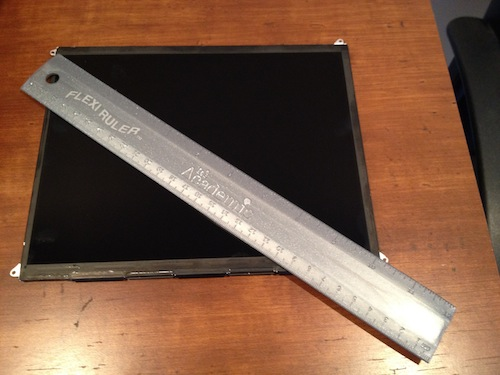 ipad 3 display mr ruler - L'iPad 3 passera au Retina Display !