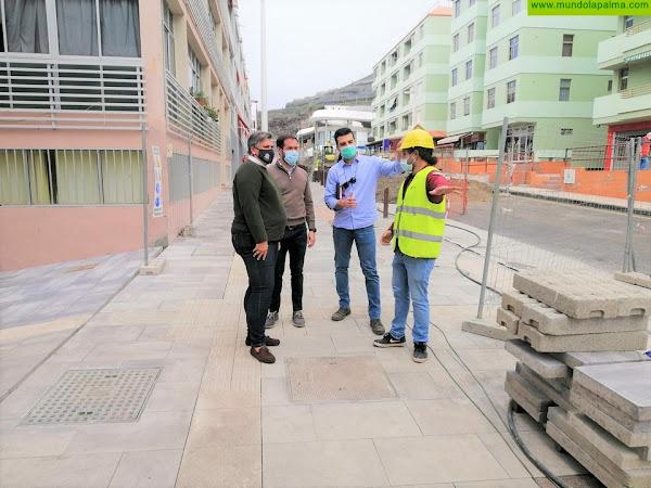 Las obras de urbanización de Puerto Naos llegan a su recta final