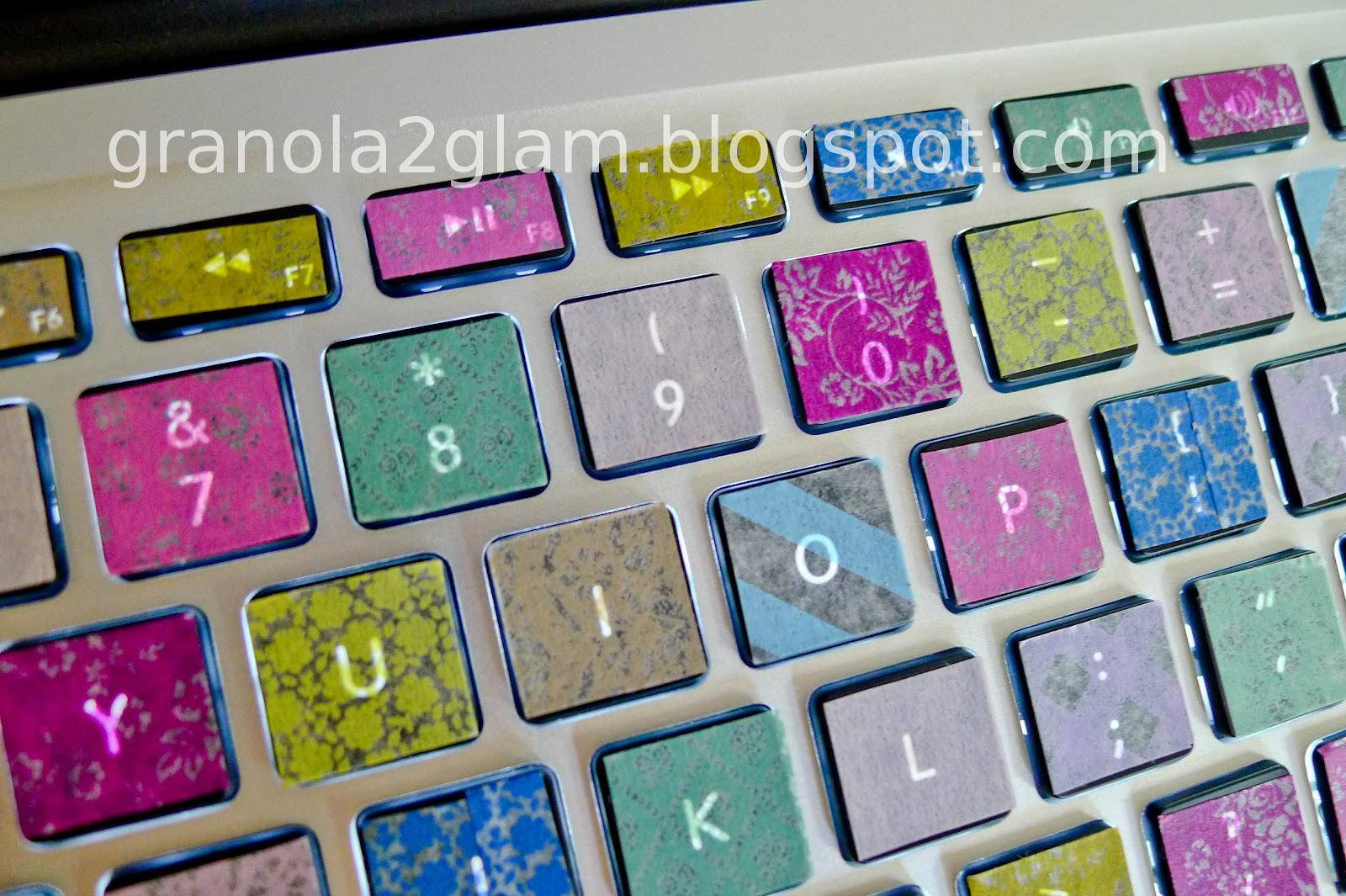 Granola To Glam: DIY Colorful MacBook Washi Tape Keyboard Tutorial
