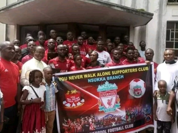 Liverpool fans in Nsukka go for thanksgiving in Church after historic Champions League win (Photos)
