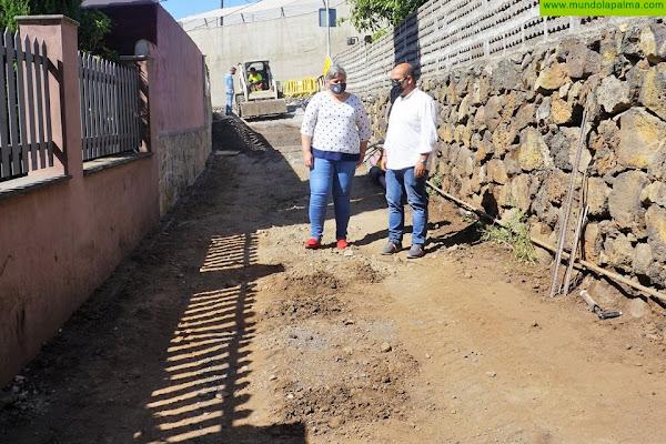 En marcha las obras de acondicionamiento y mejora de los servicios básicos del Camino Saturnino en Los Llanos de Aridane